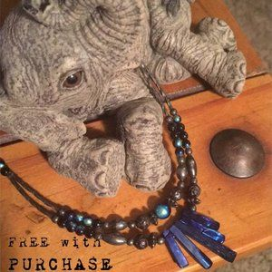 Sterling Purple Pearl Vintage Necklace